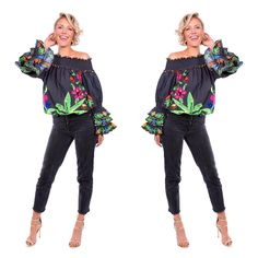 """91 mentions J'aime, 3 commentaires - BONITA COLLECTIVE (@bonita_collective) sur Instagram: """"Tuck it in, wear it out, or just wear it as a dress! The Black Tropical Valley Ruffle Top.…"""" Ruffle Top, Tropical, Polyvore, How To Wear, Image, Collection, Black, Instagram, Tops"""