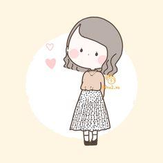Cute Little Drawings, Cute Cartoon Drawings, Cartoon Art Styles, Doodle Girl, Cute Themes, Princess Cartoon, Dibujos Cute, Cute Doodles, Cute Chibi