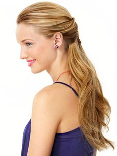 Step 1: Gather just the sides of your hair (from your temples to the tops of your ears) into a wide French braid and secure with an elastic, then wrap a small piece of leather around it for a boho feel.   Step 2: Gently, tug the braid to loosen it some more; add gloss with a shine spray.
