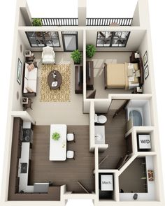 1 Bed 1 Bath Apartment for Rent in Little Rock , AR Riverhouse Apartments in Little Rock , AR Sims House Plans, House Layout Plans, Small House Plans, House Layouts, House Floor Plans, Small Apartment Plans, Small Apartment Layout, Studio Apartment Floor Plans, Sims 3 Apartment