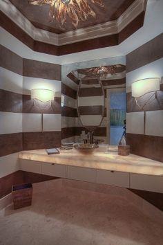 Contemporary Bathroom - Herscoe Hajjar Architects - Naples, Florida