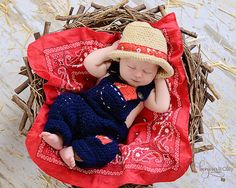 Farmer Bill Newborn Photo Prop/ Farmer Photo door WillowsGarden