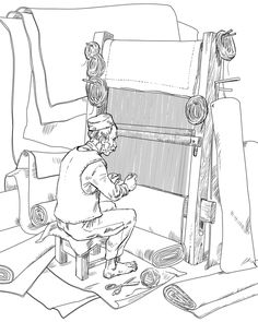 Profession by Anton Batov, via Behance Colouring Pages, Adult Coloring Pages, Coloring Books, Composition Drawing, Crayon Painting, Christian Preschool, Bujo Doodles, Penny Black Stamps, Autumn Art
