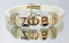 ΖΦΒ White Bracelet  YOUnique Necessities  All White, All White, All White!