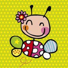 DM04 > Lief beestje 4-luik) Painting For Kids, Drawing For Kids, Art For Kids, Little Doodles, Arte Pop, Cute Illustration, Stone Art, Stone Painting, Animal Drawings