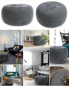 Moderná nafukovacia taburetka tmavo sivej farby Google Home, Ale, Ottoman, Chair, Furniture, Home Decor, Room Ideas, Decoration Home, Room Decor
