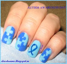 Autism Awareness Day Nails Month Heart Nail Art Diffe Designs