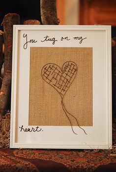 Craft Formula: frame, burlap, glass, a message and DRY ERASE MARKER!!! SUCH a Cool Idea.    Jill Ruth & Co.: