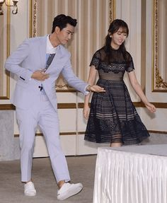 Actors Ok Taecyeon and Kim So-hyun showed excellent chemistry together. The premiere of the tvN drama 'Bring It On, Ghost' was held on July Ok Taecyeon put on a grey semi-formal suit and looked dandy while Kim So-hyun wore a see-through dress. Bring It On Ghost, Lets Fight Ghost, Korean Actresses, Korean Actors, Actors & Actresses, Moorim School, Korean Entertainment News, Kim Sohyun, W Two Worlds