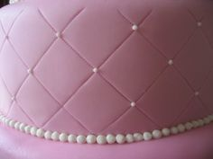 The wedding cake is a fuchsia pink fondant cake with quilting pattern and swiss… Got Married, Getting Married, Frosting, Icing, Quilted Cake, Quilt Patterns, Fondant, Wedding Cakes, Pink Cakes
