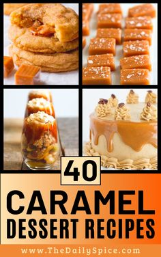 Desserts To Make, Homemade Desserts, Holiday Desserts, Food To Make, Delicious Desserts, Bakery Recipes, Snack Recipes, Cooking Recipes, Caramel Delights