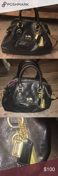 Coach Bag Soft leather and in excellent condition. Can be carried as a handbag or a shoulder bag with removable strap.   Check availability for matching boots in my posh closet.  💸 Reasonable offers accepted 💸 Coach Bags Shoulder Bags