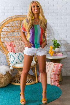 Boho Summer Outfits, Sexy Outfits, Spring Summer Fashion, Cute Outfits, White Denim Shorts, Sexy Shorts, Look Plus Size, Sexy Legs And Heels, Cool Style