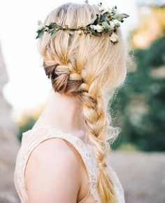Good morning! Loving this braid by @hairbykar styled with our Danielle #weddingdress from our stockist @lovelybride / photo @jennabechtholt by leannemarshallofficial