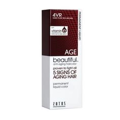 Anti-Aging Permanent Liquid Hair Color Shades of Intrigue 4VR Dark Plum Red Brown