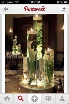 Wedding centerpiece. Just one pillar instead of 3