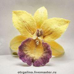 """Броши ручной работы. Ярмарка Мастеров - ручная работа брошь """"орхидея Борнео"""". Handmade."""