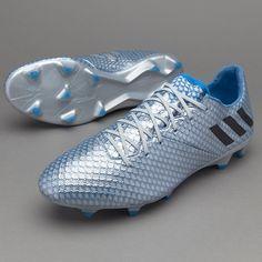 adidas Messi 16.1 FG/AG - Silver Metallic/Core Black/Shock Blue
