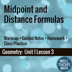Midpoint and Distance Formulas Lesson by Mrs E Teaches Math | Teachers Pay Teachers