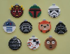 star  wars christmas ornaments/hama perler beads/by Bianca Jung