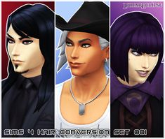 * STATUS tested : some glitches, game prefers those hairstyles before others which is an issue, still good meshes for male sims - Mod The Sims - ~*Eclipse [Sims 4 Hair Conversion Set 001] Hair*~