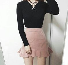 Korean Fashion Trends you can Steal – Designer Fashion Tips Ulzzang Fashion, Kpop Fashion, Cute Fashion, Skirt Fashion, Fashion Outfits, Womens Fashion, Korean Fashion Trends, Asian Fashion, Kawaii Clothes