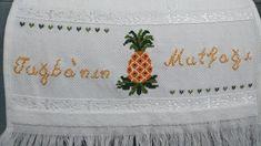 Ananas lı mutfak havlusu #nakış # kaneviçe #mutfak havlusu #ananas