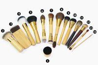 Marque 14 pcs 100% Tarte pinceaux de maquillage chèvre synthétique cheveux blush poudre fondation make up brush Kabuki kit pincéis maquiagem