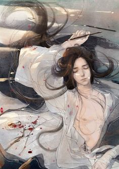 """⚡ so one day this fulfilled man, full of children, tells me. """" One day I fell asleep. With a very heavy book on my chest. And I almost died"""". Just now, his words rung a BELL🔔. Boys Anime, Anime Manga, Anime Art, Ancient China, Ancient Art, Fantasy Art Men, China Art, Handsome Anime, Boy Art"""