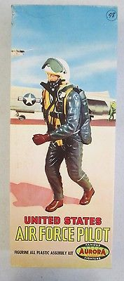 UNBUILT 1958 AURORA FAMOUS FIGHTERS UNITED STATES AIR FORCE PILOT MODEL KIT #409 in Toys & Hobbies, Models & Kits, Military | eBay