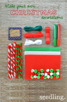 Make this Christmas extra special with your own diy Christmas decorations!
