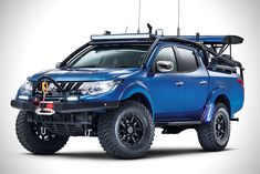 Mitsubishi Desert Warrior Concept, A one-off built in conjunction with Top Gear magazine for the 2017 Commercial Vehicle Show, held at the NEC, Birmingham from April 25 - Codenamed. Mitsubishi Strada, Mitsubishi Pickup, Mitsubishi Motors, Mitsubishi L200 2017, Outlander Phev, Mitsubishi Outlander, Top Gear, Triton 4x4, Triton L200