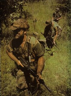 Rhodesian Troops on Patrol in the Rhodesian Bush War. These guys were true trackers