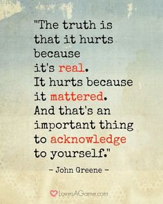 .. acknowledge to yourself... #quote #hurt