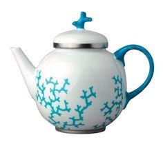 Cristobal Turquoise Tea Pot 35 oz | Gracious Style