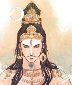 Sundareswarar means the Handsome Lord. Shiva descended from Mt.kailash assuming this form to marry Meenakshi,the Queen of Madurai,the ruler . Shiva as the Sundareswarar Arte Shiva, Mahakal Shiva, Shiva Art, Krishna Art, Hindu Art, Shiva Lord Wallpapers, Lord Shiva Family, Shiva Tattoo, Lord Shiva Painting