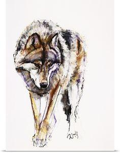 European Wolf (charcoal