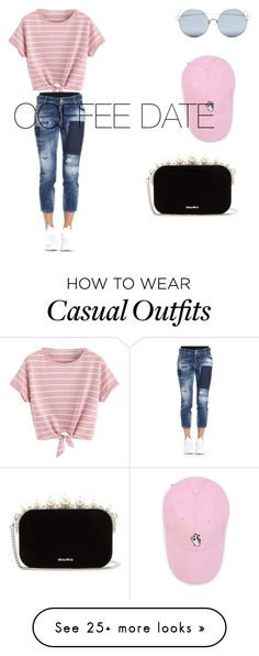 """""""JUST FOR A CASUAL TEEN"""" by carmellatoney on Polyvore featuring For Art's Sake, Dsquared2, Miu Miu and CoffeeDate"""