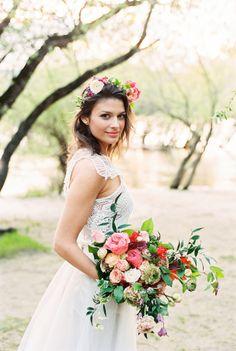 Riverside bridal inspiration – Gabor Muray fine art film photography
