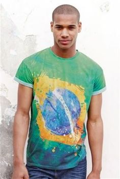 Brazil flag sublimation graphic t-shirt at next