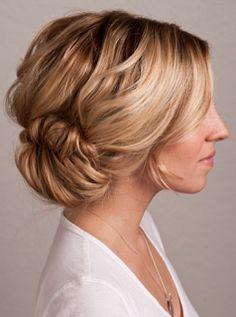 Up do for a beach wedding - soft, low bun. #wedding #hair. Via Six Sisters' Stuff.