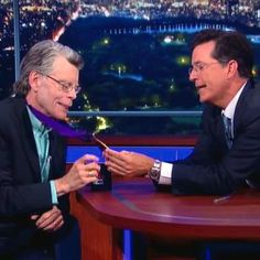 Stephen King channels Flavor Flav on The Late Show with Stephen Colbert http://shot.ht/1O7CDiz @EW
