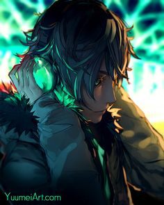 A gallery of illustrations featuring the cast of Fisheye Placebo. Cool Anime Guys, Cute Anime Boy, Wallpaper Animes, Animes Wallpapers, Foto Fantasy, Fantasy Art, Yuumei Art, Demon Manga, Fisheye Placebo