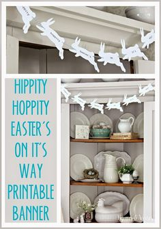 Hippity Hoppity Easter's On It's Way Printable Bunny Banner
