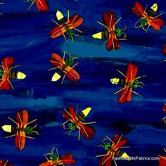 Fabric... The Very Series Fireflies by Andover Fabrics REMNANT (30.5x44)