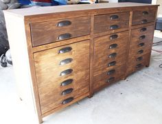 Diy Restoration Hardware Printmakers Sideboard, Painted Furniture, It S  Built Now I Can Have
