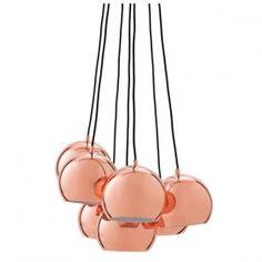 Ball függőlámpa multi réz – Függőlámpák - ID Design Kiegészítők - Lámpa Pendant Lamp, Pendant Lighting, Ceiling Pendant, Id Design, Light Design, Floor Design, Multi Light Pendant, Contemporary Pendant Lights, Modern Lighting