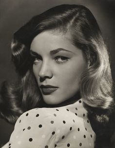 Strong. Pistol smart. Whistles like a sailor with the lashes of a siren. She is the kind of woman I aspire to be. Lauren Bacall