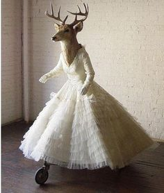What a dear! Finally something to do with my wedding dress when I'm done with it. Lol