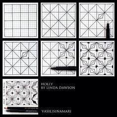 zentangle pattern tutorial art зентангл узор урок